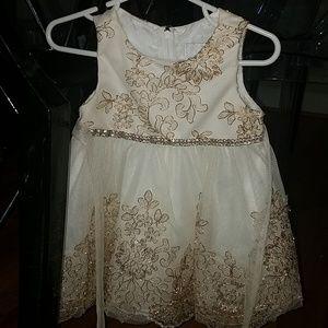 Beautiful Rhinestone & Lace Adorned Toddler Dress